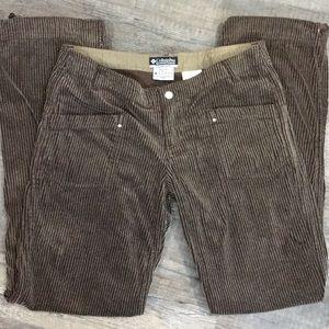Brown Wide Wale Corduroy Casual Pants